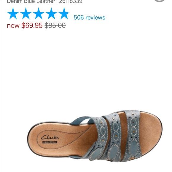 fb0d95b49ef Clarks Shoes - Leisa Cacti Q- Denim Blue Leather Clark s